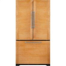 "Cabinet Depth French Door Refrigerator with Internal Dispenser, 72""(h), Custom Overlay"