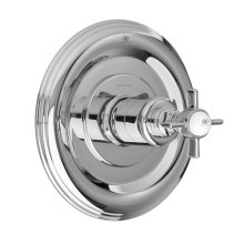 Landfair 1/2 Inch or 3/4 Inch Thermostatic Valve Trim with Cross Handles - Polished Chrome