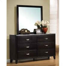 Nacey Dark Brown Six-drawer Dresser