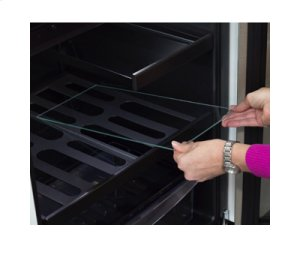 """24"""" Beverage Refrigerator with Drawer - Solid Overlay Panel Door - Integrated Right Hinge"""