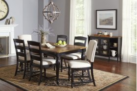 Castle Hill Rectangle Dining Chair With 6 Ladder Back Chairs