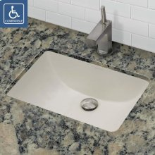 Callensia ® Rectangular Biscuit Vitreous China Undermount Lavatory With Overflow - Ceramic Biscuit