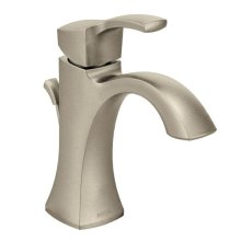 Voss brushed nickel one-handle bathroom faucet