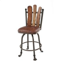 Steel Traditions - Scottsdale Swivel Bar Stool With Leather Seat