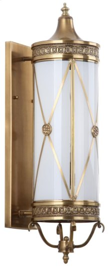 Darby Sconce - White Shade And Brass Lamp