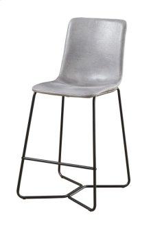 30'' Barstool W/ Upholstered Seat & Back-gray #725-6c