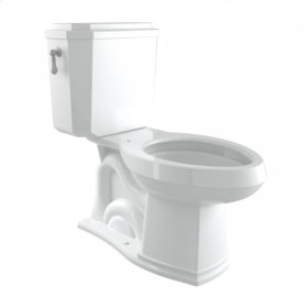 Satin Nickel Perrin & Rowe Deco Elongated Close Coupled 1.28 GPF High Efficiency Water Closet/Toilet
