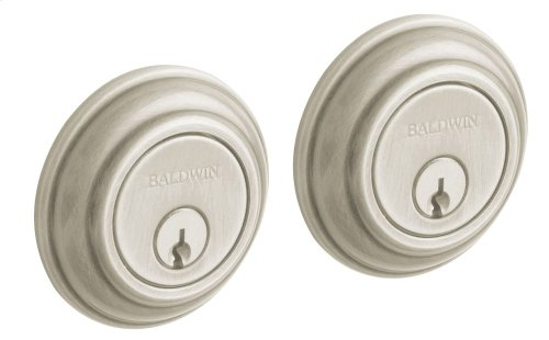 Satin Nickel with Lifetime Finish Traditional Deadbolt