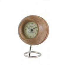 Clock 14x20 cm LEESTON wood+nickel