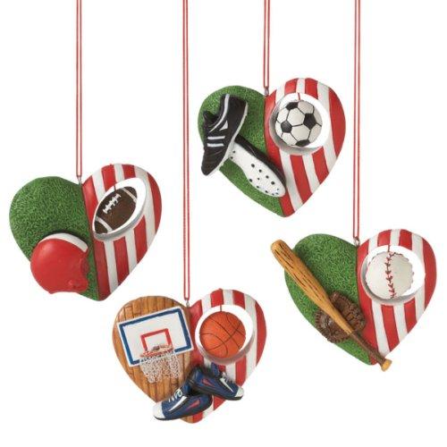 Sport Ball Heart Ornament (4 asstd).