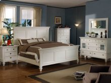 Queen Bedroom Group: Queen Bed, Nightstand, Dresser & Mirror