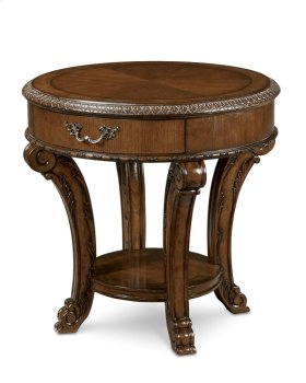 Old World Round End Table