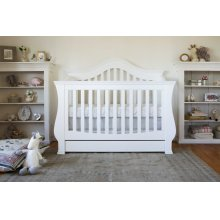 White Ashbury 4-in-1 Convertible Crib with Toddler Bed Conversion Kit