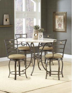 Brookside 5pc Counter Height Set W/ Marin Stools