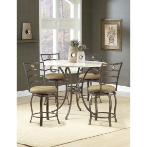 Hillsdale FurnitureBrookside 5pc Counter Height Set W/ Marin Stools