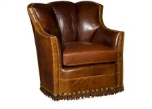 Pecos Leather Swivel Glide Chair