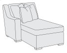 Germain Left Arm Chaise in Mocha (751) Product Image