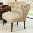 Greek Key Klismos Chair-Beige w/Nickel Tacks Product Image