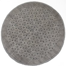 9' Size Flatweave Faded Round Print Rug