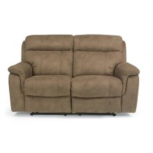 Casino Fabric Reclining Loveseat