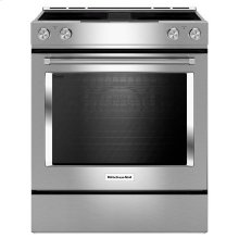Stainless Steel KitchenAid® 30-Inch 4-Element Electric Downdraft Slide-In Range