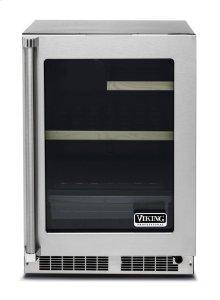 """24"""" Glass Door Undercounter Refrigerator, Right Hinge/Left Handle"""