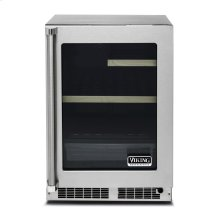 "24"" Glass Door Undercounter Refrigerator, Right Hinge/Left Handle"
