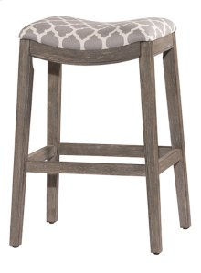 "24"" Sorella Backless Counter Stool, Gray"