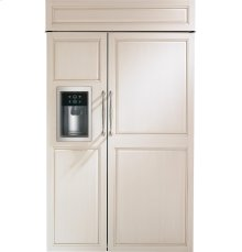 "Monogram 48"" Built-In Side-by-Side Refrigerator with Dispenser"