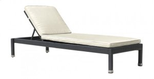 Onyx Stackable Chaise Lounge w/wheels