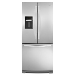 30-inch Wide French Door Refrigerator with Exterior Water Dispenser - 19.7 cu. ft. - MONOCHROMATIC STAINLESS STEEL
