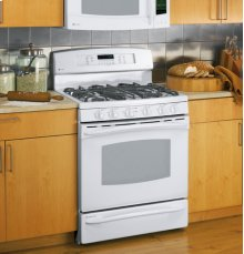 """Floor Model - PGB908DEMWW - GE Profile™ 30"""" Free-Standing Range with Warming Drawer"""
