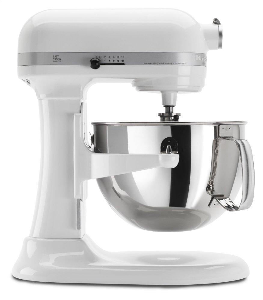 Pro 600 Series 6 Quart Bowl-Lift Stand Mixer - White  WHITE