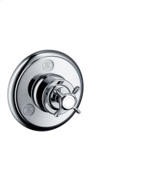 Chrome Shut-off/ diverter valve Trio/ Quattro for concealed installation with cross handle