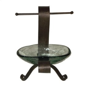 Forged Iron Soap Dish w/ Towel Holder