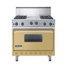 """Golden Mist 36"""" Open Burner Commercial Depth Range - VGRC (36"""" wide, four burners 12"""" wide griddle/simmer plate)"""