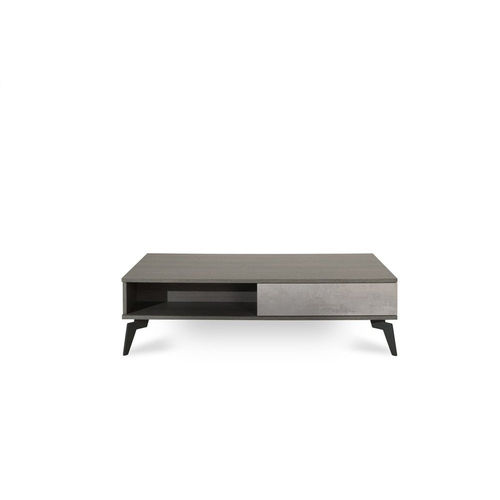 Nova Domus Palermo Italian Modern Faux Concrete & Grey Coffee Table