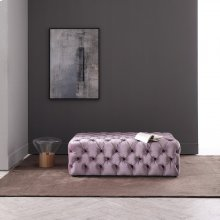 Divani Casa Spiegel Transitional Purple Velvet Tufted Ottoman
