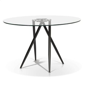 Carmen - Round Glass Top Dining Table