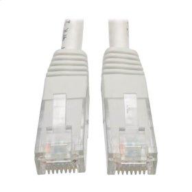 Premium Cat5/5e/6 Gigabit Molded Patch Cable, 24 AWG, 550 MHz/1 Gbps (RJ45 M/M), White, 2 ft.