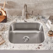 Portsmouth Undermount 23x18 Single Bowl Kitchen Sink  American Standard - Stainless Steel