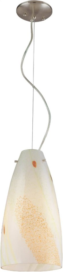 Pendant Lite, Mixed White Glass Shade, Type A 100w