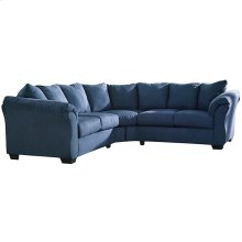 Signature Design by Ashley Darcy Sectional in Blue Microfiber [FSD-1109SEC-BLU-GG]