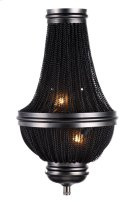 1210 Paloma Collection Wall Sconce W:9.5in H:16.5in Ext: 4.5in Lt:2 Dark Grey Finish Product Image