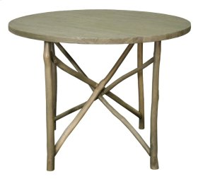 """Ashton Branch Dining Table 40"""", Washed Gray"""