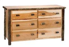 Six Drawer Dresser - Cinnamon - Premium