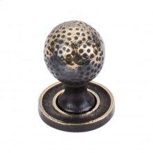 Paris Knob Mottled 1 1/4 Inch w/Backplate - Dark Antique Brass