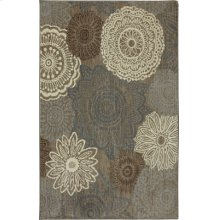 Mossat Brown Rectangle 3ft 6in X 5ft 6in