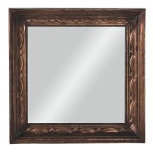 Antique Gold Square Wall Mirror