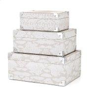 Beth Kushnick Gray Snakeskin Boxes - Set of 3 Product Image
